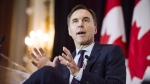 Finance Minister Bill Morneau attends a breakfast event co-hosted by the Canadian Club and the Empire Club in Toronto, on Thursday, March 1, 2018. Internal federal documents show the Liberal government has been analyzing flaws in its extensive public engagement efforts and last year's headaches around Morneau's controversial tax proposals are a top case study. THE CANADIAN PRESS/Christopher Katsarov