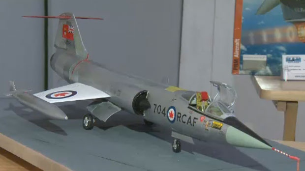 A model of a CF-104 Starfighter airplane was auctioned off to raise money for Montreal's Aviation Museum on Sun., Oct. 28, 2018.