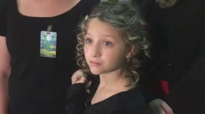 Gracie Schneck, 9, appealed to the Saskatchewan Legislature for help covering the cost of the $6,400 hearing aid she needs.