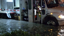 Storm drains clogged