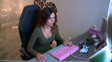 Natalia Mogollon has built an impressive online following playing games. (Matt Young/CTV Saskatoon)