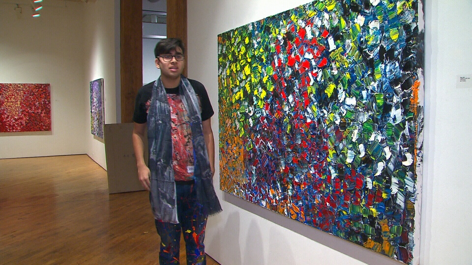 Niam Jain began painting three years ago. Since then, the 15-year-old has become an emerging artist in the fields of gestural abstract art and abstract expressionism.