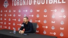 Toronto FC coach Greg Vanney attends an end-of-season news conference in Toronto, Tuesday, Oct.30, 2018. The MLS team missed the playoffs this year after capturing the championship last season. (THE CANADIAN PRESS/Neil Davidson)