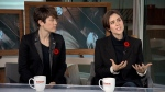 Tegan and Sara appear on Power Play, Tuesday, Oct. 30, 2018.