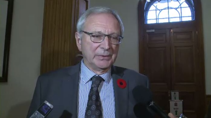 """""""If this was supposed to be such a collaborative effort, this throne speech to begin with, you'd have to question what is the necessity now for amendments other than desperation,"""" said Progressive Conservative leader Blaine Higgs. """"That's what we've witnessed: desperation."""""""