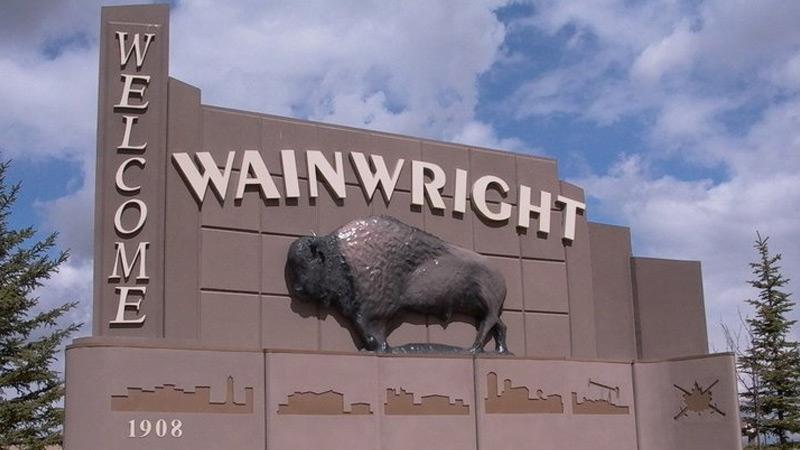 Town of Wainwright sign