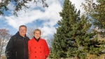 Ross McKellar and Teresa Simpson of Oxford, N.S., are donating their 46-foot white spruce to the City of Boston as part of an annual tradition. (Nova Scotia government)