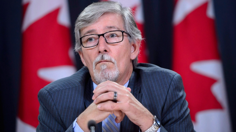 Privacy Commissioner Daniel Therrien holds a news conference to discuss his annual report in Ottawa on Thursday, Sept. 27, 2018. THE CANADIAN PRESS/Sean Kilpatrick