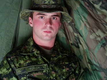 Private Thomas Welch was an infantryman with the 3rd Battalion, Royal Canadian Regiment, based in Petawawa. He joined the Forces in 2001 and served as a gunner in Afghanistan in 2003. He died by suicide in 2004. (Royal Canadian Legion)