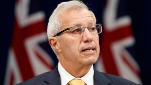 Ontario's Minister of Finance Vic Fedeli speaks about new legislation for selling marijuana, in Toronto, Wednesday September 26, 2018.THE CANADIAN PRESS/Mark Blinch