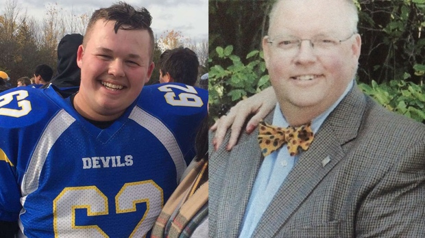 Spencer Edwards, left, and his father Don were killed in a crash on Highway 6 on Wednesday.