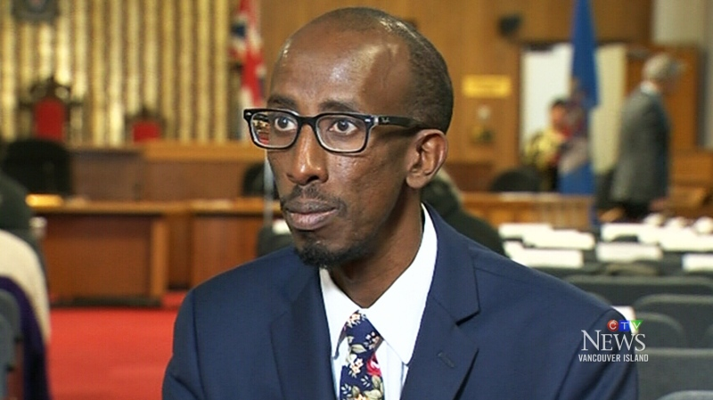 Victoria city councillor Sharmarke Dubow is pictured.