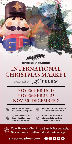 Spruce Meadows Xmas Right Rail