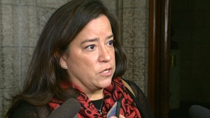 Justice Minister Jody Wilson-Raybould speaks to reporters in Ottawa, Friday, Nov. 2, 2018.