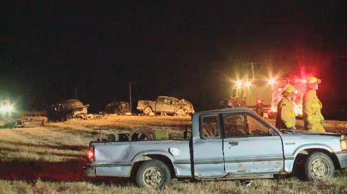 Two people were killed in a crash around 7.5 kilometres south of Regina on Nov. 1