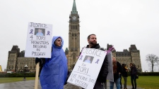 'Justice for Tori' protest on Parliament Hill
