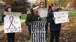 A rally was held in Woodstock in support of Tori's Law on Saturday, Nov. 3, 2018. (Brent Lale / CTV London)