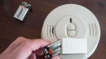 A smoke detector battery is changed Friday, March 9, 2018 in Montreal. Experts recommend changing the batteries when we switch to daylight savings time to ensure proper functions.THE CANADIAN PRESS/Ryan Remiorz