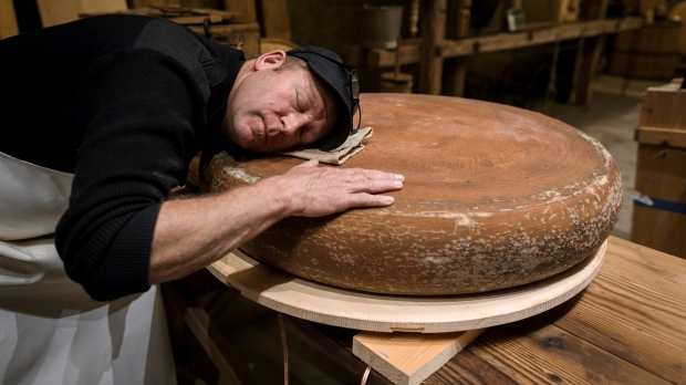 Cheesemaker hopes to improve product by blasting rock music