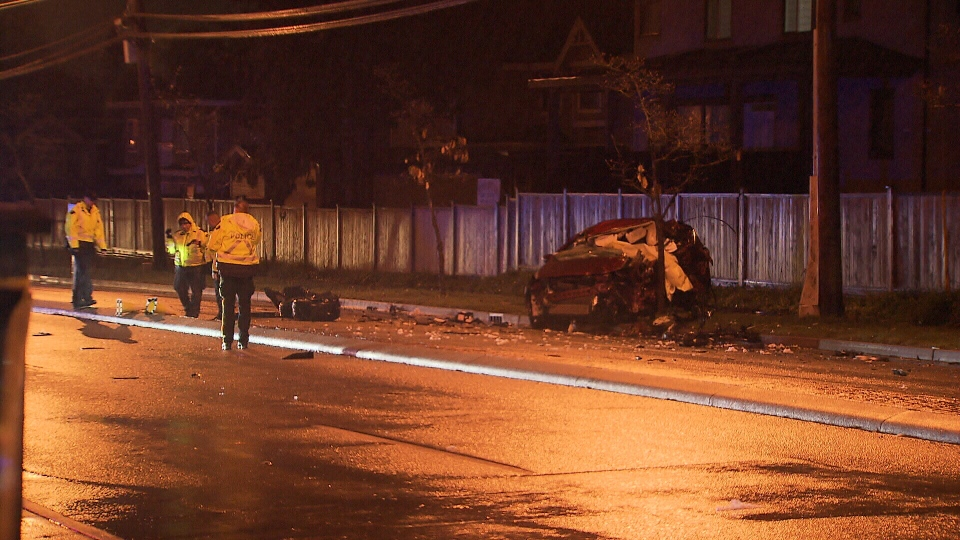 A driver is dead after a serious two-vehicle crash in Surrey after midnight on Sunday, Nov. 4, 2018.