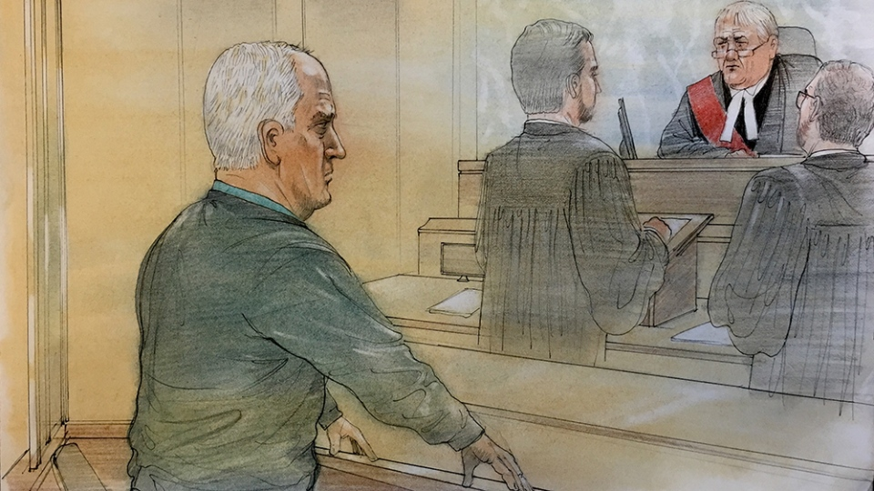 Bruce McArthur appears in Ontario's Superior Court of Justice in Toronto, Monday, Nov. 5, 2018. (Credit: John Mantha)