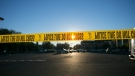 In this file photo, police tape stretches across a section of street in the U.S. on Friday, Oct. 9, 2015. (Michael Schennum/The Arizona Republic via AP)