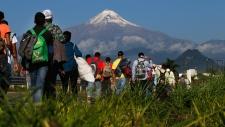 Central American migrants in Mexico