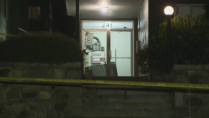 A Port Coquitlam home is cordoned off with police tape following an altercation that left a man dead early Sunday morning.