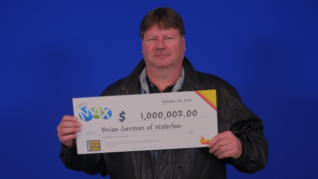 Brian German lotto max maxmillions waterloo
