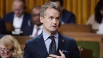 Minister of Veterans Affairs Seamus O'Regan rises during question period in the House of Commons on Parliament Hill in Ottawa on Thursday, Sept. 27, 2018. THE CANADIAN PRESS/Adrian Wyld