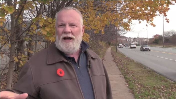 Norm Collins of the Nova Scotia Crosswalk Safety Society doesn't think the crosswalk should be eliminated, but he does think there are ways to make it safer.