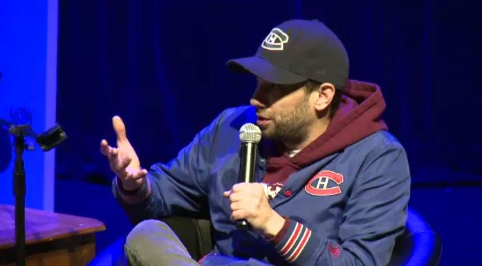Jay Baruchel at a talk in Montreal, Nov. 5, 2018.