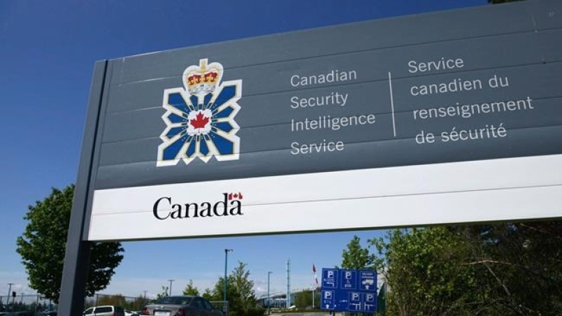 A sign for the Canadian Security Intelligence Service building is shown in Ottawa on May 14, 2013. THE CANADIAN PRESS/Sean Kilpatrick