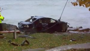 Vehicle into Lake Ontario