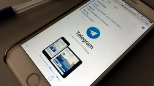 In this July 15, 2017 file photo, the messaging app Telegram is displayed on a smartphone in Bangkok, Thailand. (AP Photo, file)