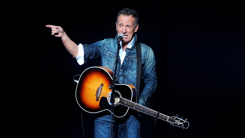 Bruce Springsteen performs at the 12th annual Stand Up For Heroes benefit concert at the Hulu Theater at Madison Square Garden on Monday, Nov. 5, 2018, in New York. (Brad Barket/Invision/AP)