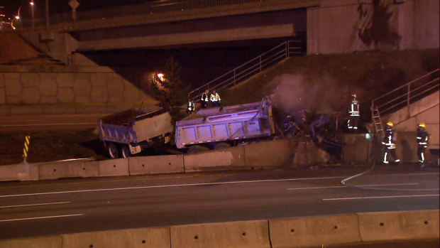 Accident In Surrey Today >> Dump Truck Crash Leaves Driver Dead Part Of Hwy 1 Closed