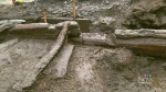 An ancient wooden wall has been found in Quebec City