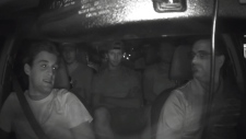 Strong language: Sens captured in Uber video