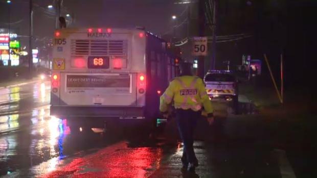 Bus-pedestrian collision
