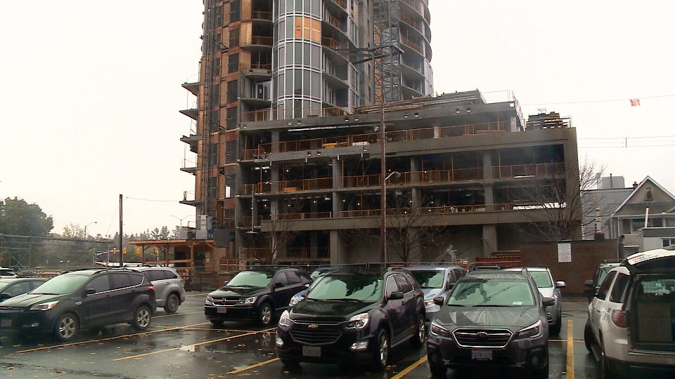 Government workers near Claridge construction site urging builder to