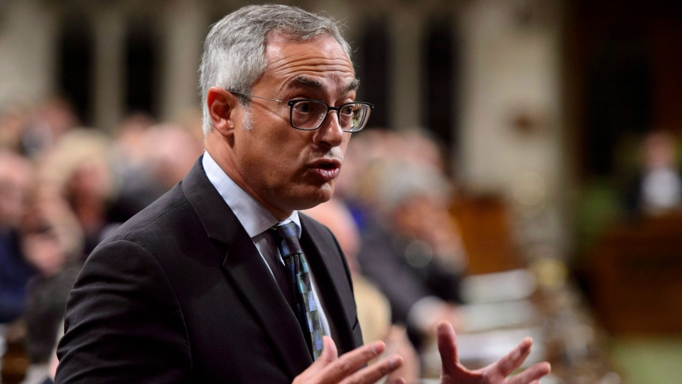 Conservative MP Tony Clement stands during question period in the House of Commons on Parliament Hill in Ottawa on Wednesday, Sept. 26, 2018. (THE CANADIAN PRESS/Sean Kilpatrick)