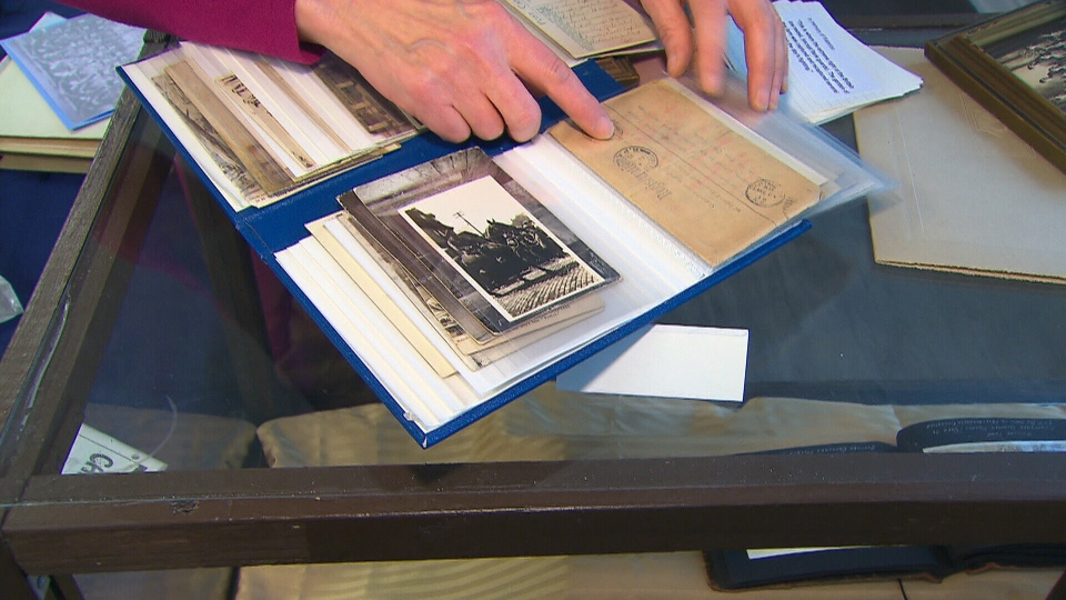 Letters from soldiers who fought in the First World War are being displayed at Don Heights Unitarian Congregation.