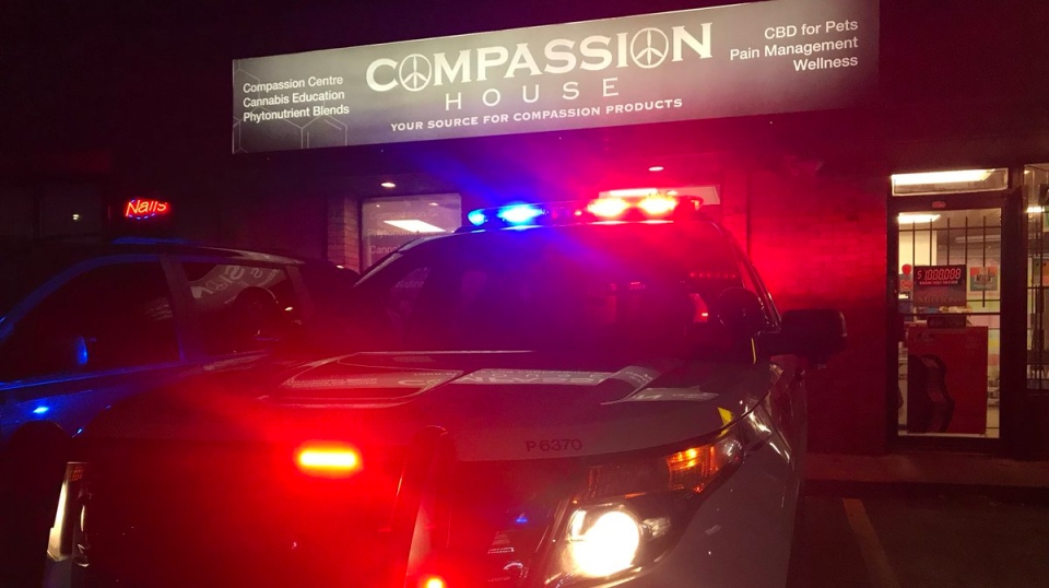 Windsor police raid the Compassion House on Tecumseh Road West on Tuesday November 6, 2018. ( Angelo Aversa / CTV Windsor )