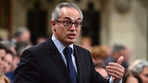 Conservative MP Tony Clement stands during question period in the House of Commons on Parliament Hill in Ottawa on Monday, June 12, 2017. THE CANADIAN PRESS/Sean Kilpatrick