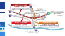 east-west closures in Turcot