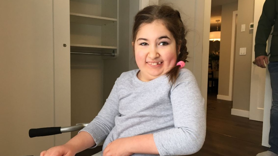 Vienna Kennedy gets a tour of her new home after renovations (Taylor Rattray / CTV Regina)