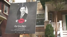 Posters honour the fallen soldiers