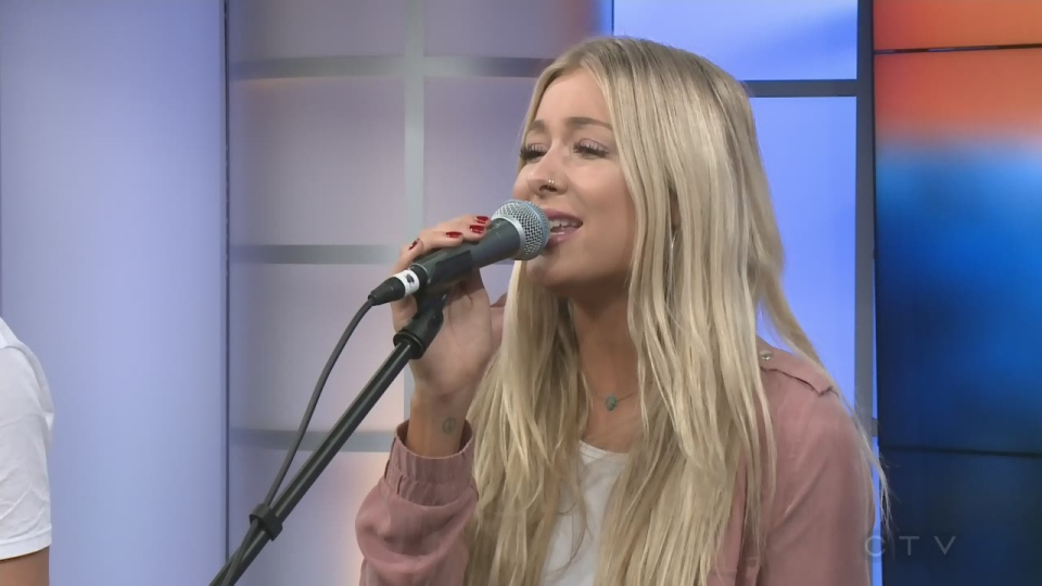 Country singer Madeline Merlo performs on the CTV Morning Live Morning Jam in November 2018.