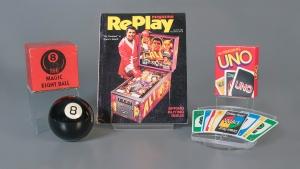 Pinball, Uno and a Magic 8-Ball